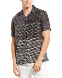 Onia Camp Over Linen Shirt - Black