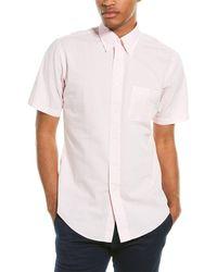 Brooks Brothers Seersucker Regent Fit Woven Shirt - Pink