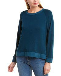 Monrow Lace-up Sweatshirt - Blue