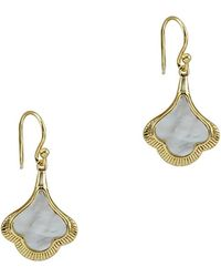 Argento Vivo 18k Over Silver Mother-of-pearl Drop Earrings - Metallic