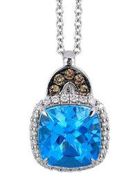 Le Vian 14k 2.19 Ct. Tw. Diamond & Blue Topaz Necklace