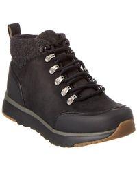 UGG Olivert Leather Boot - Black