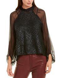 Krisa Silk Top - Black