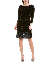 Joan Vass Velvet Sequin Dress - Black