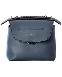 Fendi Back To School Mini Leather Backpack - Blue