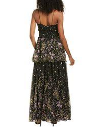AMUR Mariposa Silk Gown - Black