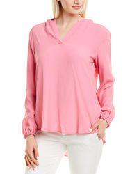 Marella Silk-blend Shirt - Pink
