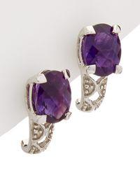 Effy - Fine Jewelry 14k 2.23 Ct. Tw. Amethyst Earrings - Lyst