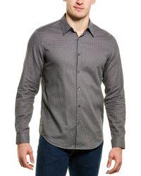 Theory Irving Woven Shirt - Grey