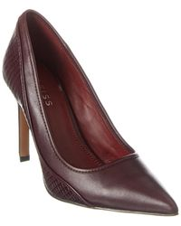 Reiss Maddy Leather Pump - Purple