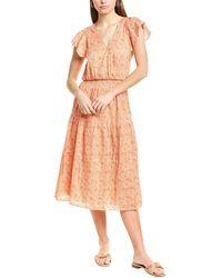 Parker Miley Midi Dress - Orange