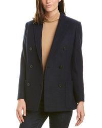 Agnona Cashmere Jacket - Blue
