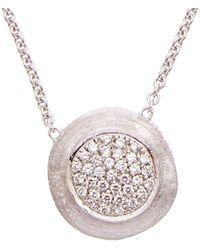 Marco Bicego Jaipur Diamonds 18k 0.25 Ct. Tw. Diamond Pendant Necklace - Metallic