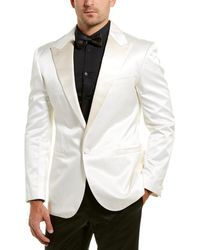 Versace Silk-blend Jacket - White