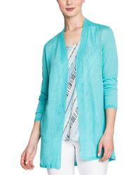 NIC+ZOE Linen-blend Petite Cardigan - Blue