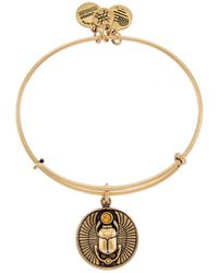 ALEX AND ANI - Path Of Symbols Scarab Expandable Bangle - Lyst