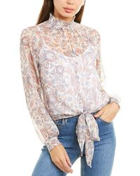1.STATE High-neck Paisley Top - Multicolour