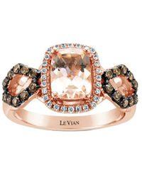 Le Vian ? 14k Rose Gold 1.41 Ct. Tw. Diamond & Morganite Ring - Metallic