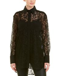 Givenchy Silk-trim Top - Black