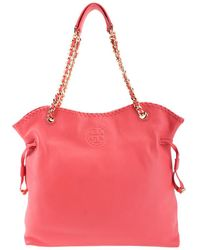 Tory Burch - Marion Leather Slouchy Tote - Lyst