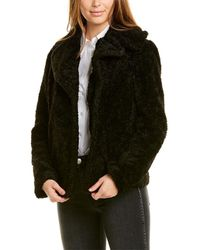 Kensie Sherpa Chubby Coat - Black