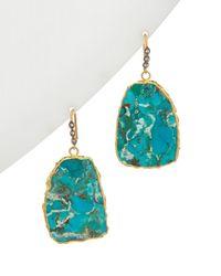 Alanna Bess Spring 14k Vermeil Gemstone Earrings - Blue