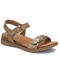 Söfft Balsam Leather Sandal - Brown