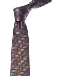Canali Blue & Brown Silk Tie