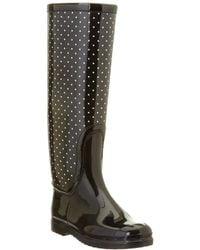 Dolce & Gabbana Polka Dot Rainboot - Black