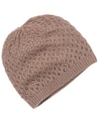 Forte - Forte Women's Cashmere Crystal Cabled Hat - Lyst