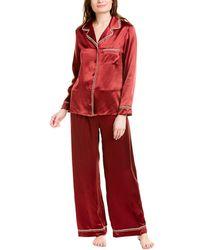 Cosabella Artisan Silk Pyjama Set - Red