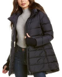 Herno Medium Down Wool-blend Jacket - Blue