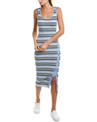 525 America Ribbed Midi Dress - Blue