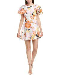 Talulah Effervescent Floral A-line Dress - White