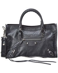 60e92ad026 Balenciaga - Classic City Logo Strap Small Leather Shoulder Bag - Lyst