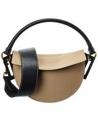 Yuzefi Dip Canvas & Leather Shoulder Bag - Multicolour