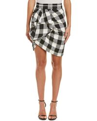 WHIT Silk-blend Pencil Skirt