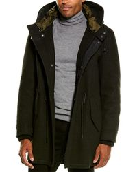 Cole Haan Grandseries Wool-blend Coat - Black