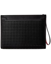 Christian Louboutin Sky Leather Pouch - Black