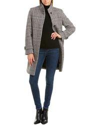 Cole Haan Single-breasted Wool-blend Coat - Black