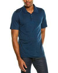 Theory Bron C.anemone Polo Shirt - Blue