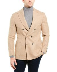 Brunello Cucinelli Alpaca & Wool-blend Blazer - Natural