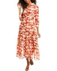 Marella Cinto Silk-blend Maxi Dress - Pink
