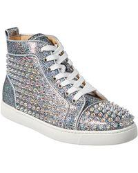 aba502f4d9c Louis Orlato Spikes Glitter Leather Sneaker - Metallic
