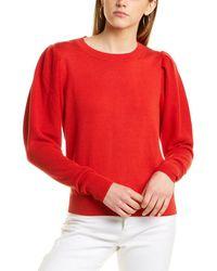Carolina Herrera Silk-blend Top - Red