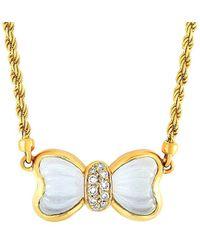 Boucheron Vintage Boucheron 18k Crystal Necklace - Metallic