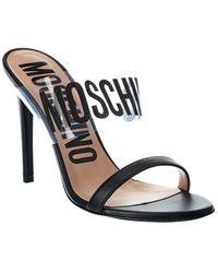 Moschino Logo 110 Leather Sandal - Multicolour