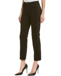AG Jeans The Isabelle Super Black Meteor Shower High-rise Straight Crop