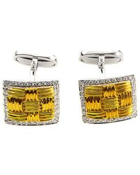 Roberto Coin - 18k Two-tone 0.47 Ct. Tw. Diamond, Mother-of-pearl, & Pearl Cufflinks - Lyst