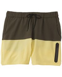 Onia The Bonded Colorblocked Swim Trunk - Green